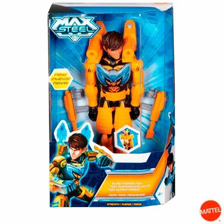 Boneco Super Força Max Steel, BQ, Plástico, 03 meses