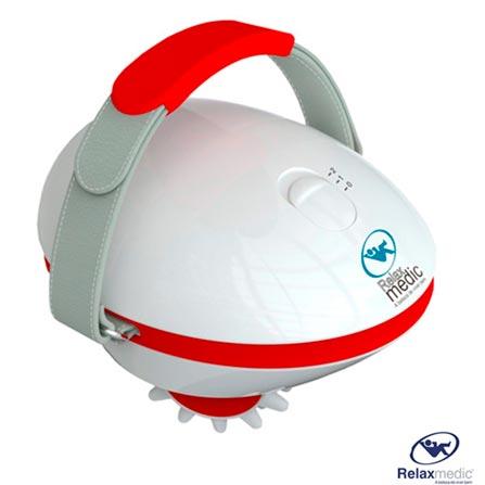 Massageador Portátil Celltech, 110V, 220V, Bivolt, Bivolt, Portátil, Branco e Vermelho