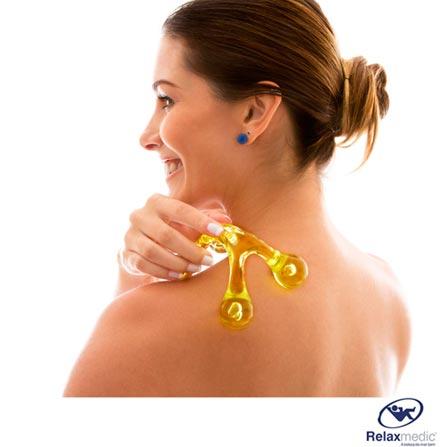Human Massage Relaxmedic Amarelo, Portátil, 01 Peça, Amarelo, 1 ano., 7898494590991