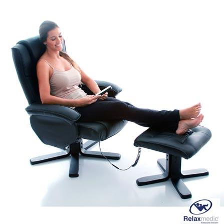 Poltrona Leisure Chair Relaxmedic Preta, 110V, 220V, Bivolt, Bivolt, Poltrona, 02 Peças, 1 ano., 7898494590793