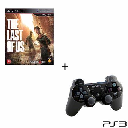 Jogo The Last of Us para PS3 + Controle Preto Dualshock 3 para PS3, 0, 16 anos, Ação, PlayStation 3, Blu-ray, 3 meses para o jogo e 6 meses para o controle