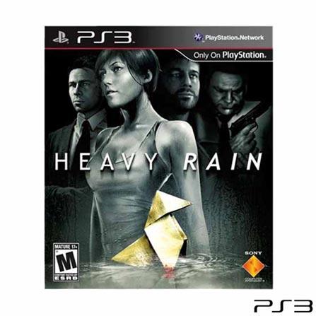 Playstation 3 250GB Preto - Sony + Jogo Heavy Rain + Jogo Journey Edição de Colecionar + Jogo Heavenly Sword, 0, Sim, Console PS3, 1 ano para o console e 3 meses para os jogos