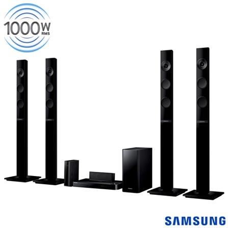 Home Theater Samsung com Blu-ray 3D, 5.1 Canais e 1000 W - HT-F5555WK, Bivolt, Bivolt, Preto, Sim, Sim, 5.1, Sim, Sim, Não, 12 meses, 1000 W, Não, Blu-ray 3D Player, Não, Sim