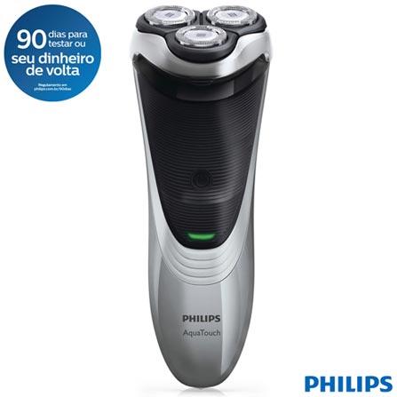 Barbeador Philips AquaTouch Uso Seco e Molhado - AT891/14, Bivolt, Bivolt, Cinza e Preto, sem Fio, Sim, 24 meses