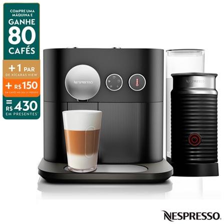 Cafeteira Expresso Nespresso Expert & Aeroccino Preto 110v - A3nc80brbkne