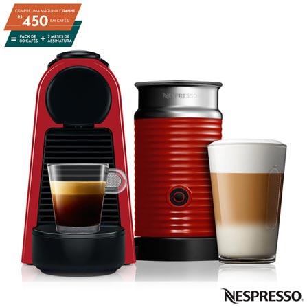 Cafeteira Expresso Nespresso Essenza Mini & Aeroccino Red Vermelho 220v - A3nrd30br3re