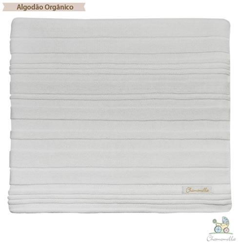 Manta Peseira Queen Chamomilla em Algodão Orgânico Branco, Branco, Queen, 01 Peça, Algodão, Não se aplica, N/A, Não, Sim, 03 meses