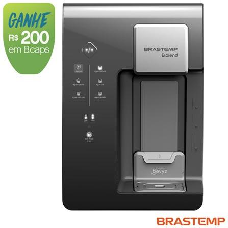 Máquina de Bebidas Brastemp B.blend Grafite - BPG40AQ, 110V, 220V, Grafite, Sim, Quente, Fria e Gelada, Mínima - 10º C e Máxima - 32º C, 12 meses
