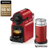 Combo Cafeteira Nespresso Inissia Rubi para Café Espresso + Espumador de Leite Aeroccino 3 Vermelho - A3NC40BR