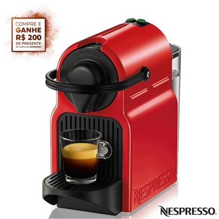 Cafeteira Nespresso Inissia Rubi Vermelha para Café Espresso - C40BRRENE, 110V, 220V, Vermelho, Espresso automática, Cápsulas, 0,7 Litros, 19 Bars, 01 xícara, Café Espresso e Lungo, Não especificado, 110 V - 1280W e 220V - 1150W, 12 meses