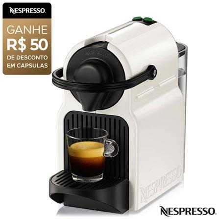 Cafeteira Nespresso Inissia Branca para Café Espresso, 110V, 220V, Branco, Espresso automática, Cápsulas, 0,7 Litros, 19 Bars, Não especificado, Café Espresso e Lungo, Não especificado, 110 V - 1280W e 220V - 1150W, 12 meses
