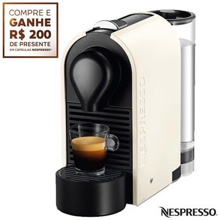 Cafeteira Nespresso U Pure Cream Creme para Café Espresso, 110V, 220V, Preto e Gelo, Espresso automática, Cápsulas, 0,8 Litros, 19 Bars, 01 xícara, Café espresso, Não especificado, 1200 W