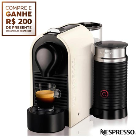Cafeteira Nespresso Umilk Pure Creme para Cafe Espresso, 110V, 220V, Bege, Espresso automática, Cápsulas, 0,8 Litros, 19 Bars, Não especificado, Café Espresso e Lungo, Não especificado, 1200 W, 12 meses