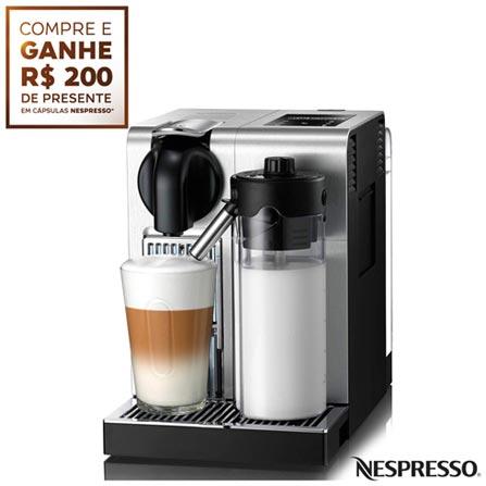 Cafeteira Nespresso F456BR Lattissima Pro para Café Espresso, 110V, 220V, Aço Escovado, Espresso automática, Cápsulas, 0,7 Litros, 19 Bars, 01 xícara, Café Espresso e Lungo, Plástico e Aço Escovado, 1300 W