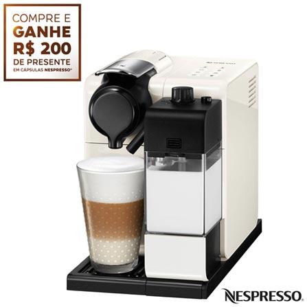 Cafeteira Nespresso Lattissima Touch Branca para Café Espresso, 110V, 220V, Branco, Espresso automática, Cápsulas, 0,9 Litros, 19 Bars, 01 xícara, Diversos sabores, Não especificado, Não especificado