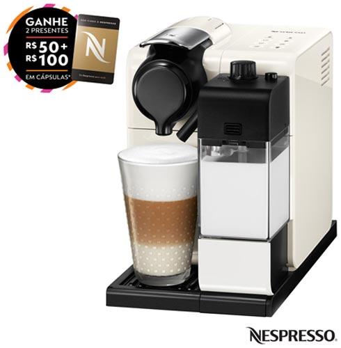 Cafeteira Nespresso Lattissima Touch Branca para Café Espresso, 110V, 220V, Branco, Espresso automática, Cápsulas, 0,9 Litros, 19 Bars, 01 xícara, Diversos sabores, Não especificado, Não especificado, 12 meses