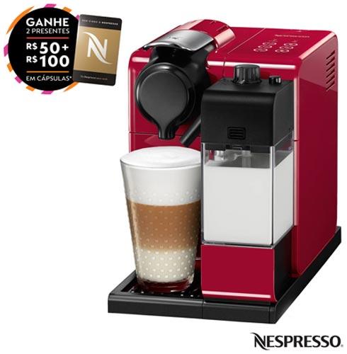 Cafeteira Nespresso Lattissima Touch Vermelha para Café Espresso, 110V, 220V, Vermelho, Espresso automática, Cápsulas, 0,9 Litros, 19 Bars, Não especificado, Diversos sabores, Não especificado, Não especificado, 12 meses