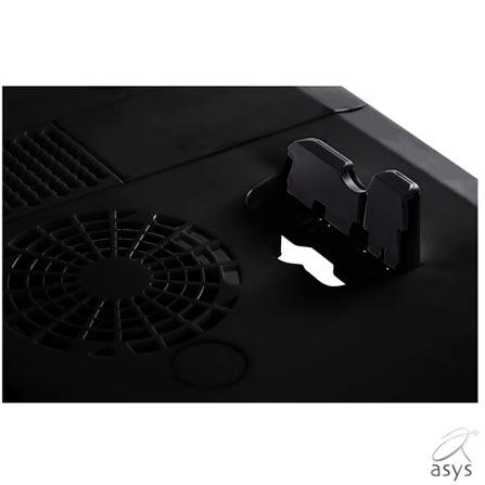 Mesa para Notebook E-Table Asys com 2 Coolers Cooler Plus - E-TABLE LD19B, Preto, 12 meses, Mesa