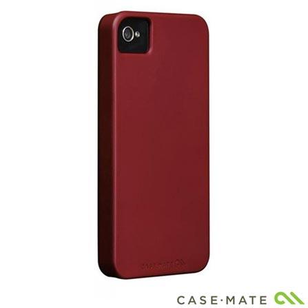 Capa Rígida Vermelho para iPhone 4 e 4S Case Mat, Vermelho, 06 meses