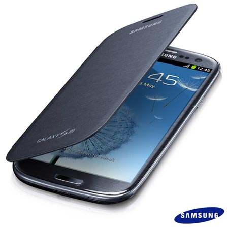 Capa Flip Samsung para Galaxy S III Prata, Prata