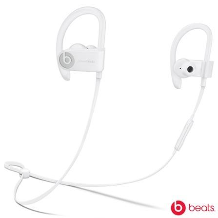Fone de Ouvido Sem Fio Apple PowerBeats3 Intra-auricular Branco - ML8W2BE/A, Branco, Intra-auricular, 12 meses