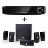 Receiver Harman Kardon com 5.1, 325 W, HDMI e USB + Caixas Acústicas JBL com Potência de 560 W