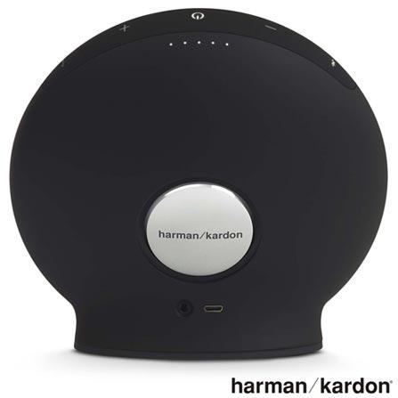 Caixa de Som Bluetooth Harman Kardon com Potência de 16 W Onix Mini Preta - HKONIXMINI, Preto, Caixas Portáteis, Sim, 16 W, Sim, Não, iOS e Android, 12 meses