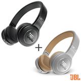 Fone de Ouvido JBL Duet BT Headphone Preto - JBLDUETBTBLK + Fone de Ouvido JBL Duet BT Headphone Cinza - JBLDUETBT