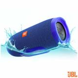 Caixa Acústica Bluetooth JBL à Prova d'Água Azul - CHARGE 3