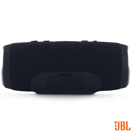 Caixa Acústica Bluetooth JBL à Prova d'Água Preto - CHARGE 3, Preto, Caixas Portáteis, Sim, 20 W, Sim, Não, iOS e Android, 12 meses