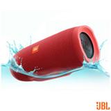 Caixa Acústica Bluetooth JBL à Prova d'Água Vermelho - CHARGE 3