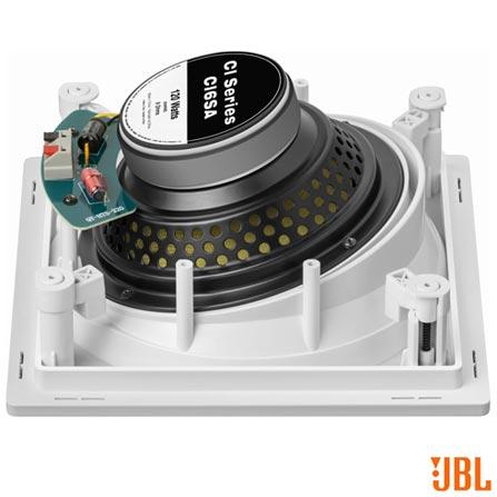 Caixa Acústica JBL de Embutir, Quadrada, Angulada, com Potência de 120 W RMS - CI6SA, Branco, Caixa Acústica Interna, Não se aplica, Não, 120 W, Não, Não, 8 Ohms, 40 hz a 20 khz, Não, 12 meses