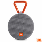 Caixa de Som Bluetooth JBL Clip 2 com Potência de 3W Cinza - CLIP2