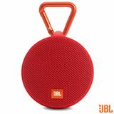 Caixa de Som Bluetooth JBL Clip 2 com Potência de 3W Vermelha - CLIP2