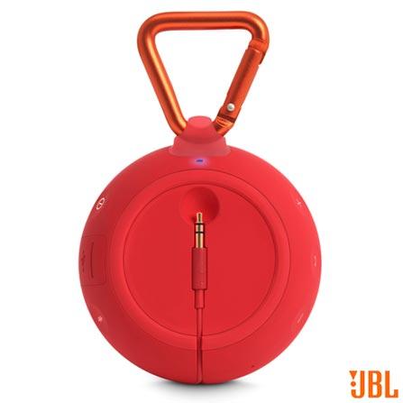 Caixa de Som Bluetooth JBL Clip 2 com Potência de 3W Vermelha - CLIP2, Vermelho, Caixas Portáteis, Sim, 3 W, Sim, Não, iOS e Android, 12 meses