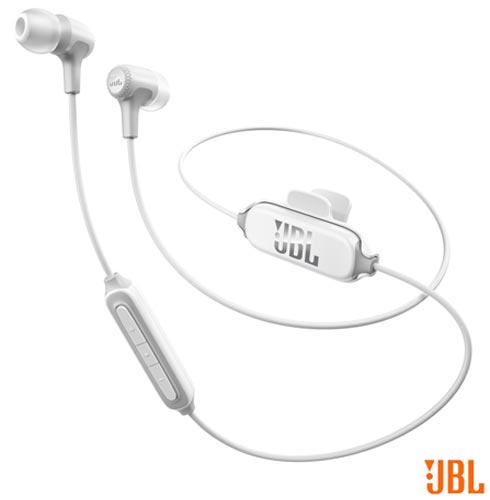 Fone de Ouvido Bluetooth JBL Intra-auricular Branco - JBLE25BTBLK, Branco, Intra-auricular, 12 meses