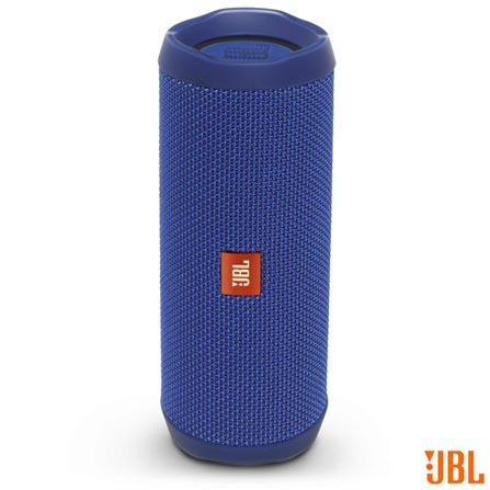 Caixa de Som Bluetooth JBL com Potência de 16W para iOS e Android Azul - FLIP4, Bivolt, Bivolt, Azul, Sim, 16 W, Não, Não, iOS e Android, 12 meses