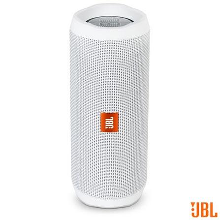 Caixa de Som Bluetooth JBL com Potência de 16W para iOS e Android Branco - FLIP4, Bivolt, Bivolt, Branco, Sim, 16 W, Não, Não, iOS, 12 meses