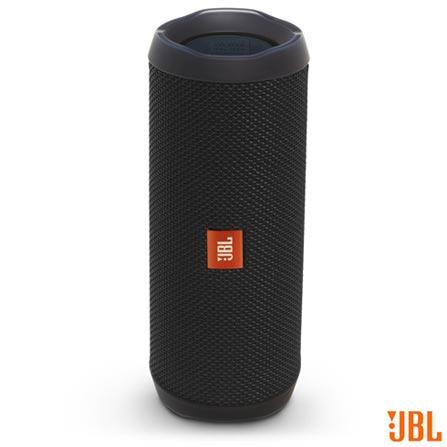 Caixa de Som Bluetooth JBL com Potência de 16W para iOS e Android Preto - FLIP4, Bivolt, Bivolt, Preto, Sim, 16 W, Não, Não, iOS e Android, 12 meses