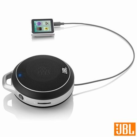 Micro caixa acústica Bluetooth com 3 W Preto e Prata - JBL - HKMICROWI, Bivolt, Bivolt, Preto e Prata, Sim, 3 W, Não, Não, Não se aplica, 12 meses