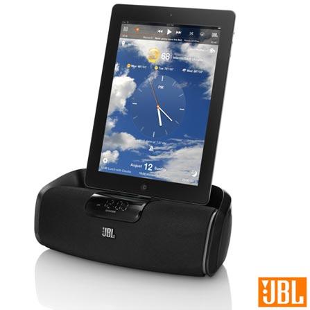 Dock Station com Bluetooth, Conexão para 30 Pinos, 6,5 W x 2 Preto - JBL - HKONBEAWA, Bivolt, Bivolt, Preto, Sim, 6 W, Não, Não, iOS, 12 meses