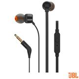 Fone de Ouvido JBL In Ear Intra-Auricular Preto - JBLT110BLK