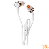 Fone de Ouvido JBL In Ear Intra-auricular Branco e Rosa Dourado - JBLT210RGD