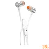 Fone de Ouvido JBL In Ear Intra-Auricular Branco e Prata - JBLT290SIL
