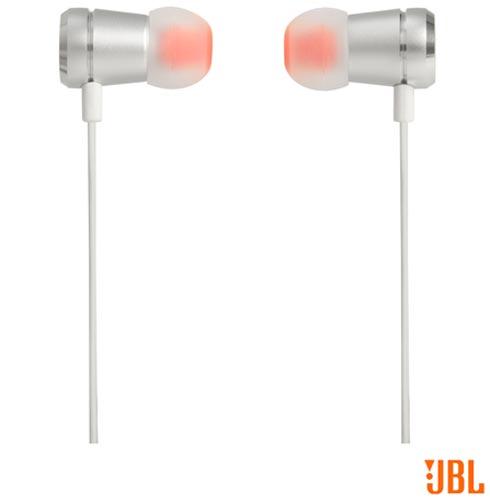 Fone de Ouvido JBL In Ear Intra-Auricular Branco e Prata - JBLT290SIL, Branco e Prata, Intra-auricular, 12 meses
