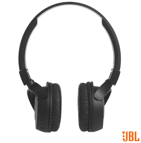 Fone de Ouvido Sem Fio JBL On Ear Headphone Preto - JBLT450BTBLK, Preto, Headphone, 12 meses