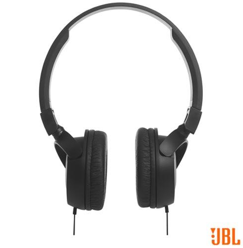 Fone de Ouvido JBL On Ear Headphone Preto - JBLT450BLK, Preto, Headphone, 12 meses