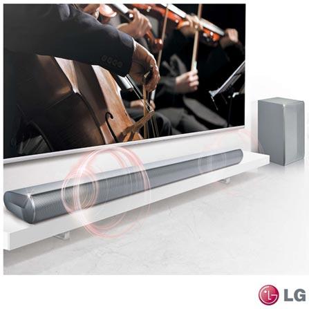 Soundbar LG com 2.1 Canais e 320W - LAS550H, Bivolt, Bivolt, Não se aplica, Não, Sim, Sim, Não, Não, 12 meses, 320 W, Sim, 2.1, Não