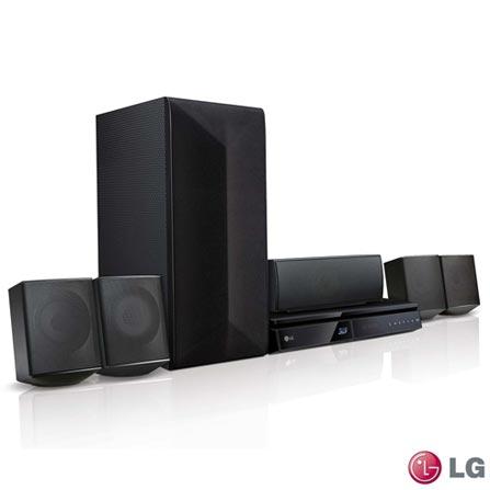 Home Theater LG com Blu-ray 3D, 5.1 Canais e 1000 Watts - LHB625M, Bivolt, Bivolt, Não se aplica, Sim, Sim, Não, 5.1, Sim, Não, Não, 12 meses, 1000 W, Sim, Blu-ray 3D Player, Sim