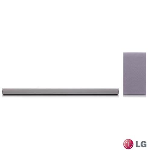 Soundbar LG com 2.1 Canais e 320W - SH5, Bivolt, Bivolt, Cinza e Prata, Não, Sim, Sim, Não, 12 meses, 320 W, Sim, 2.1, Não